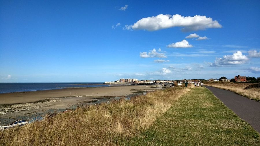 Minnis Bay Sky Beach Water Land Cloud - Sky Sea Beauty In Nature Scenics - Nature Tranquil Scene Tranquility Nature Day Blue Horizon Over Water Incidental People Horizon Sunlight Outdoors