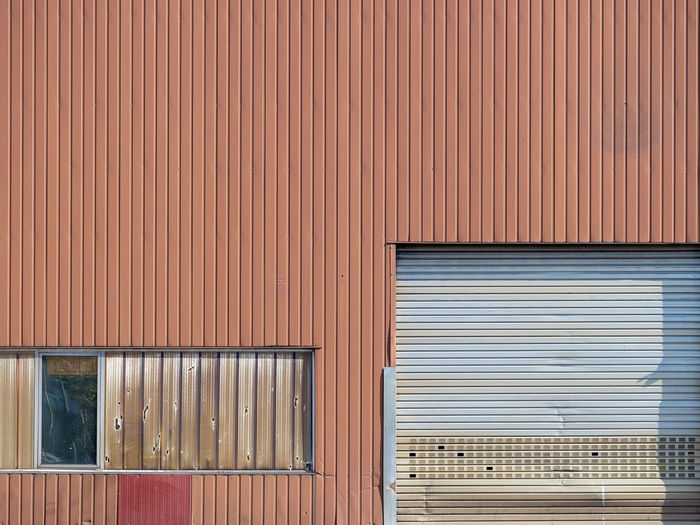 Architecture Backgrounds Building Building Exterior Built Structure Closed Corrugated Corrugated Iron Day Entrance Full Frame Garage Industry Iron Metal No People Pattern Sheet Metal Shutter Textured  Wall - Building Feature Window