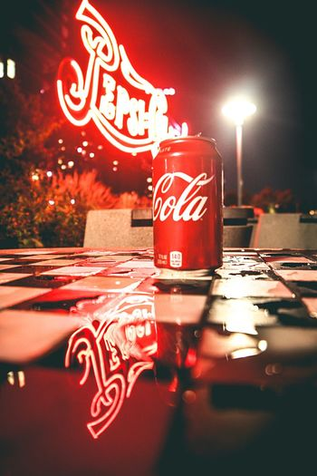 Coke or Pepsi Night Illuminated Text Red Communication Car Neon Land Vehicle No People Outdoors Road Sign Close-up City Sky Pepsi Coke LIC Peirs NYC Photography NYC LIFE ♥ New York City The Week On EyeEm EyeEmNewHere