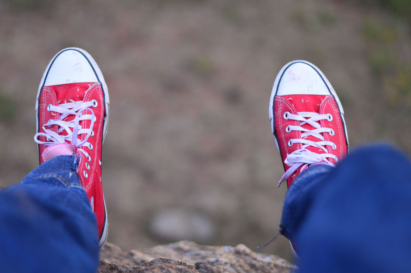 converse is life Canvas Shoe Close-up Converse Shoes Day Human Body Part Human Hand Human Leg Leisure Activity Lifestyles Low Section Men Nature Outdoors Pair People Personal Perspective Real People Red Shoe Unrecognizable Person The Traveler - 2018 EyeEm Awards