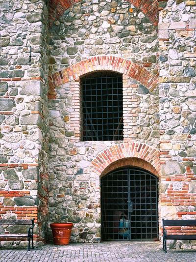 The brick walls