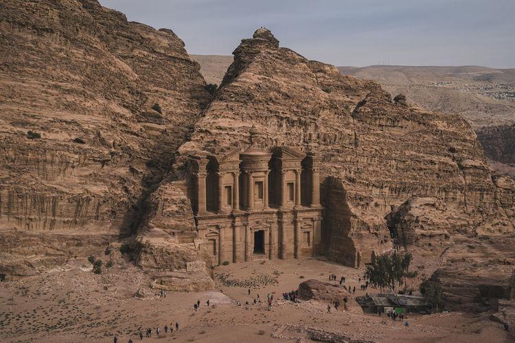 View of petra's monastery