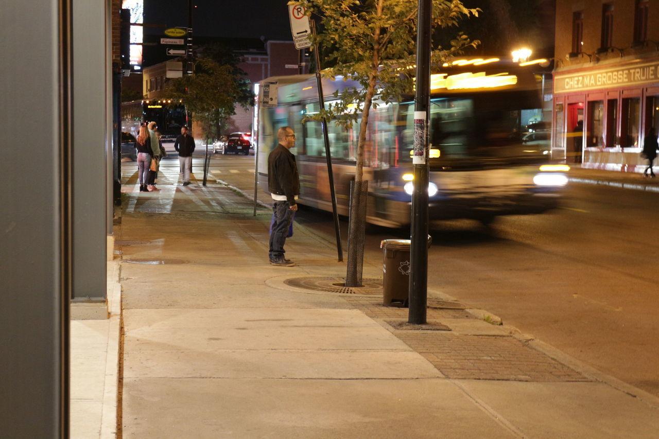 VIEW OF ILLUMINATED STREET