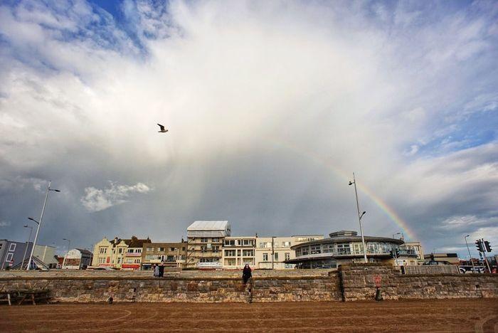 Love & rainbow Hello World Fresh On Eyeem  The Week Of Eyeem My Love My Wife Love Is In The Air Rainbow Rainbow Above Seagull Nice Beach Love In The Centre Weston-super-mare Britain United Kingdom