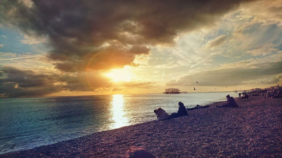 Cool Sunset Sea Beach Sky Cloud - Sky Beauty In Nature Dramatic Sky Outdoors Nature Sun Scenics Travel Brighton