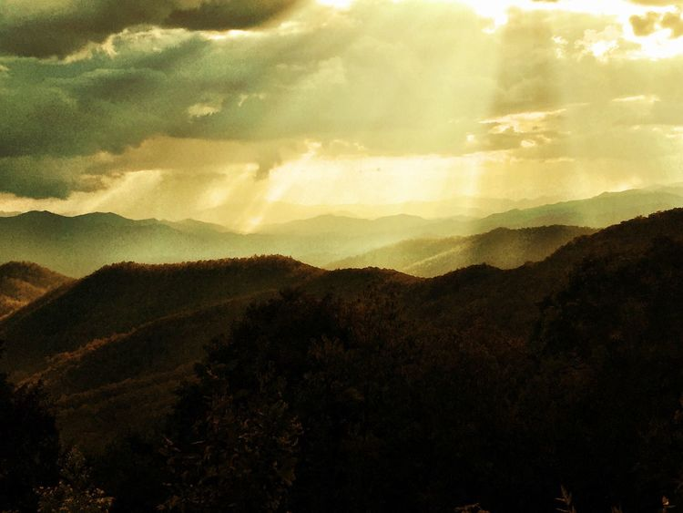 The Week On EyeEm Mountain Landscape Nature Silhouette Adventure Sky Forest No People Beauty In Nature The Great Smoky Mountains Range Day