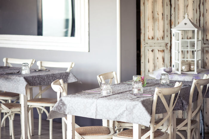 Shabby chic restaurant Chair Decor Dining Table Furniture Home Showcase Interior Interior Interior Design No People Place Setting Restaurant Shabby Chic Soft Table Tablecloth Vintage