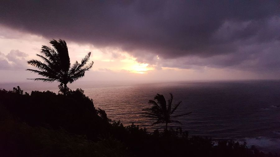Hawaii travel Pololu Valley Sunrise And Clouds morning north pacific