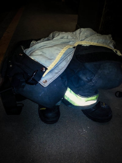ready for action. Fire Boots Fire Ready Firefigher FireFighting  Firefighting Equipment Glow Pants People