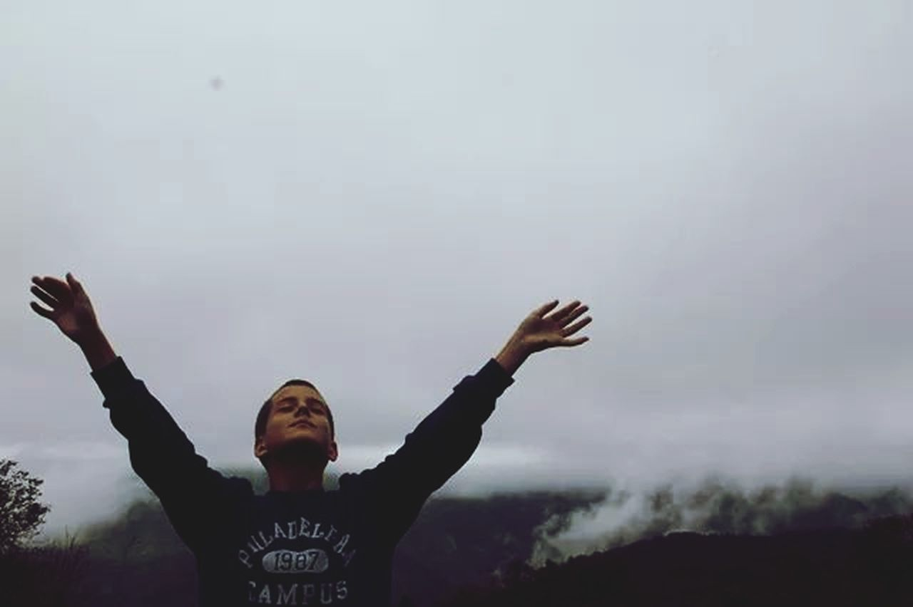 arms raised, one person, human body part, outdoors, lifestyles, excitement, day, sky, nature, one woman only, human hand, young adult, adult, people, adults only