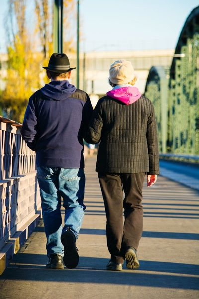 Couples , Cute Couple , Couple Walking on bridge, togetherness, couple holding hands Showcase March, People Together Two Is Better Than One, Embrace Urban Life Adapted To The City