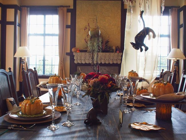 Halloween Happy Halloween Cat Table Decoration
