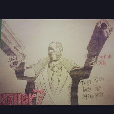 Killer7 CAPCOM Videogames MaskDesmith Classic Art Sketch PencilDrawing FavoriteVideoGame Sequelmusthappen