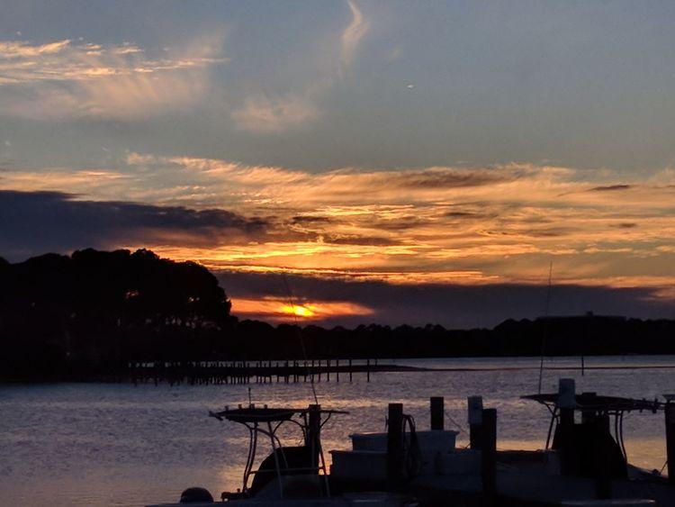 sunset at the marina Marina Sunset Beach Water Cloud - Sky