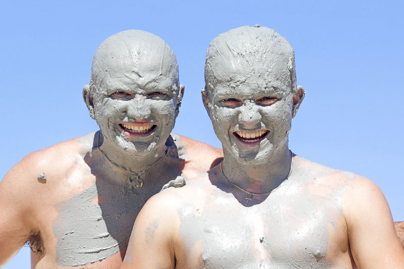 Portrait Of Muddy Men