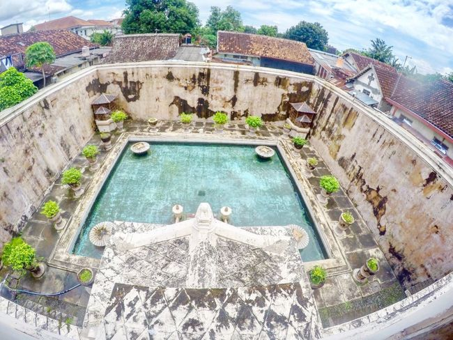 Tamansariyogyakarta High Angle View Water Swimming Pool Travel Architecture Built Structure Travel Destinations Outdoors Vacations Day No People Nature Tamansaripalace Watercastle Tamansari Yogyakarta, Indonesia