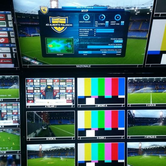 Broadcasting Genova Genoa Stadio Marassi Serie A Calcioitaliano Tv Test Bars