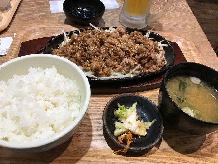 牛カルビ定食