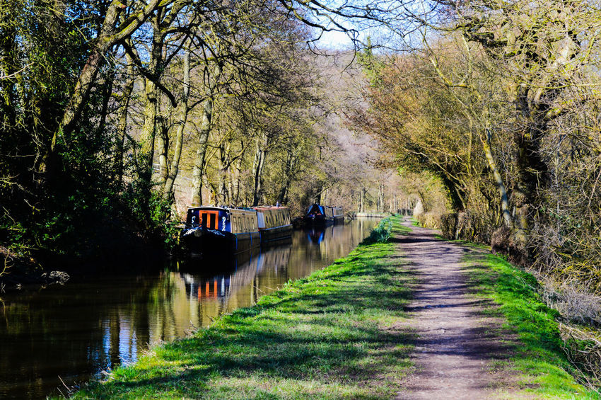British Waterways Canal Canal Boat Canal Towpath Canal Walks Canals And Waterways Countryside English Countryside Narrow Boat Nature Staffordshire Staffordshire Moorlands Towpath Trees