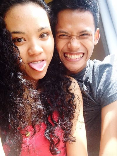 Our silly faces, my husby through thick and thin, good and bad moments love him❤️
