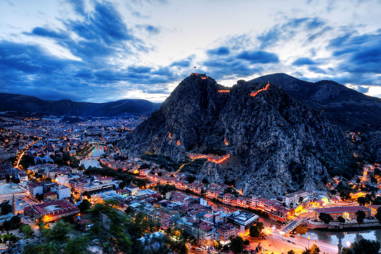 Amasya is an ancient city in Turkey. Also it is known as Ottoman's Prince City. Amasya Yeşilırmak City Turkey Ottoman History Historical Unesco Building Exterior Architecture Mountain Nature Clouds Longexposure Travel Destinations Landscape Sky Tourism Black Sea Panorama Outdoors Scenics Scenery Cultures HDR
