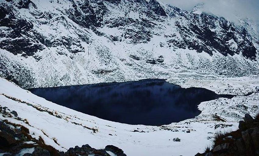 Slovakia Hightatras  Vysoketatry Mountains Lake Velkehincovopleso Snow