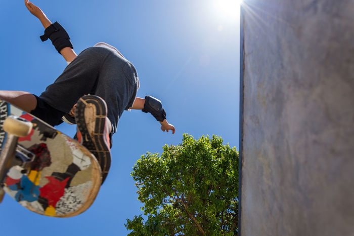 Low Angle View Sport Young Adult Live For The Story BYOPaper! The Street Photographer - 2017 EyeEm Awards Skateboarding Skateboard Skatepark Skatelife EyeEm Best Shots EyeEm Team Out Of The Box Place Of Heart Stories From The City Summer Sports