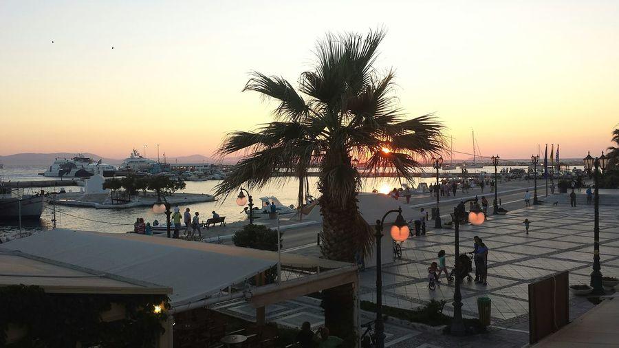 Naxos by night