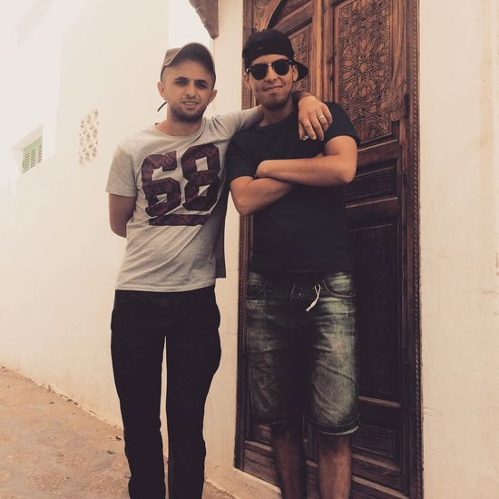 My Cousin Two People Looking At Camera Lifestyles Young Men Young Adult Togetherness Outdoors