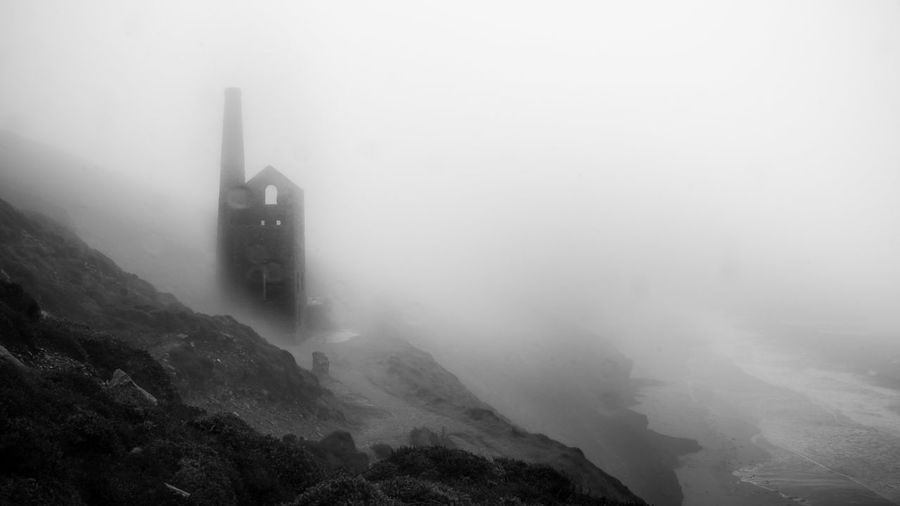 Wheal Coates in the Mist Cornish Mining Atmospheric Beauty In Nature Cold Temperature Cornish Cornish Coast Cornwall Fog Foggy Haunted Heritage History Mine Mist Nature No People Outdoors Poldark EyeEmNewHere Sea Spooky Tin Water Weather Winter EyeEmNewHere