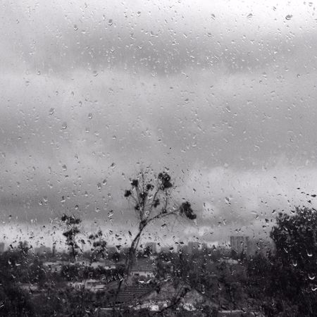 Blackandwhite Monochrome Rain