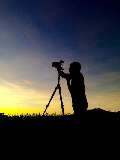 The Color Of Business Silhouette EyeEm Best Shots Productionlife Shooting Sunset