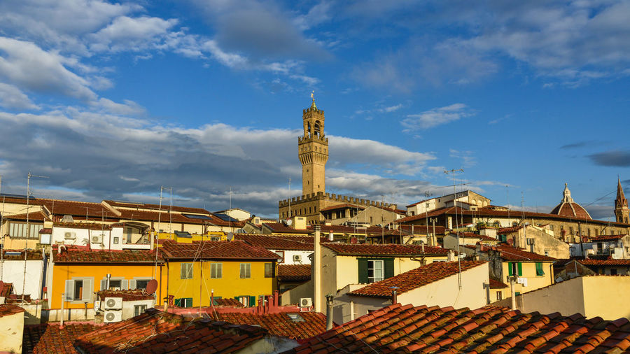 Tetti di Firenze Architecture Building Exterior Built Structure City Cityscape Clock Cloud - Sky Day Government High Angle View No People Outdoors Politics And Government Roof Sky Tower Travel Destinations Urban Skyline
