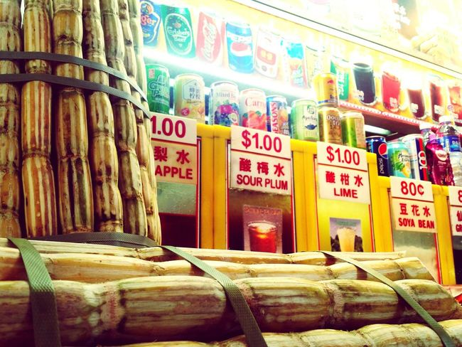 Singapore Hawker Centre Sugarcanejuice Sugarcane Can Drinks Soda