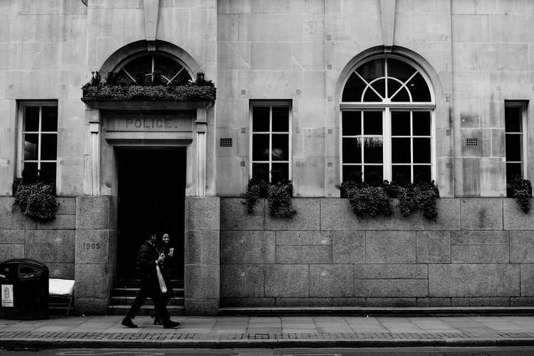 Architecture Building Building Exterior Built Structure Day England London London Lifestyle Londonlife LONDON❤ One Person Outdoors People Police Station Real People Street Street Photography Streetphotography Uk United Kingdom Urban Urban Landscape Window Welcome To Black Long Goodbye