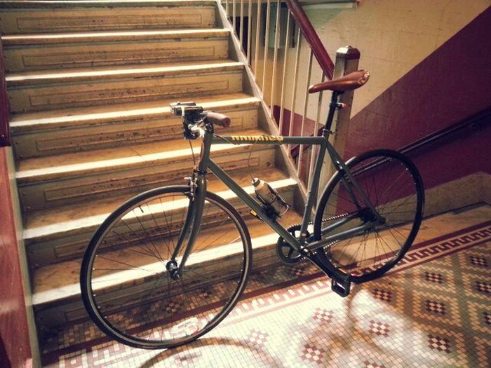 Bike Street Photography BikeNYC Colors 2Wheels Stairways Old Hallways Hallway Transportation Streetphotography