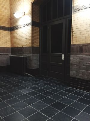 Yates building pt2 Slate tile floor and original grout preserve by L I O N I Z E PRESERVATIONS Services
