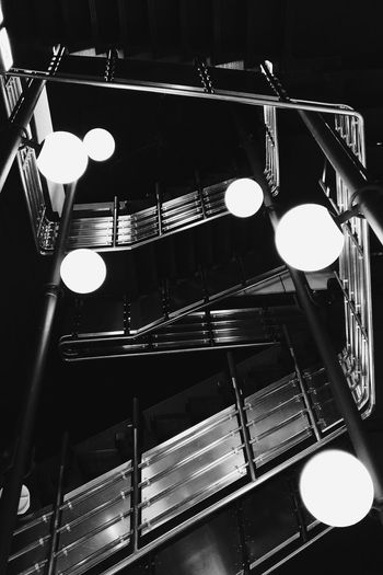 Stairs to abstraction. Staircase Illuminated Shiny Indoors  No People Abandoned Places Minimalist Photography  Minimalism_bw Minimalobsession Lamp Post Abstract Photography Abandoned Berlin Berlin Photography Black & White Retro ICC SpaceShip Urban Geometry Black And White Collection  Abandon_seekers Reflection Lamps Perspective Steps And Staircases Urbanexploration Welcome To Black The Architect - 2017 EyeEm Awards