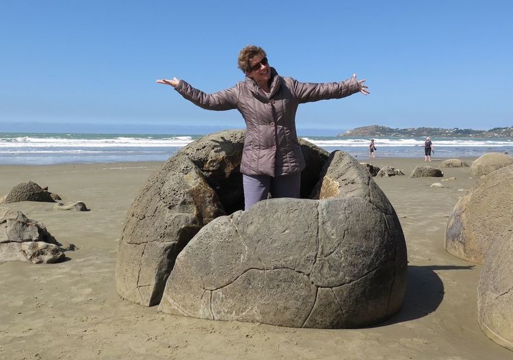 Beach Boulders Done That. Koekohe Beach Moeraki Boulders NZ South Island New Zealand Fun New Zealand Coast Otago