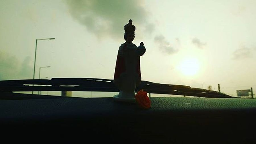 God bless India . Car Early Morning Drive Thomasjohnphotography Sunrise Motolove Motography Moto_upgraded Silhouette