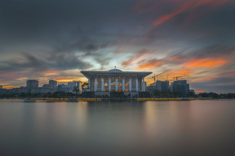 Architecture Building Exterior Built Structure City Cityscape Cloud - Sky Government Long Exposure Nature No People Outdoors Reflection River Scenics Sky Water