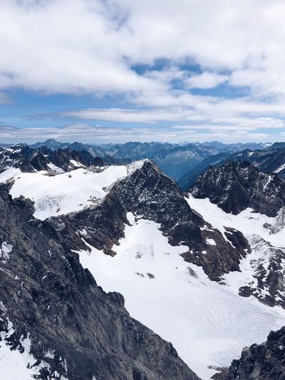 Snow mountains Glacier Peak Engelberg Titlis,Switzerland Switzerland Cloud - Sky Sky Winter Beauty In Nature Snow Cold Temperature Scenics - Nature Mountain Nature Tranquility No People Non-urban Scene Snowcapped Mountain Mountain Range Outdoors