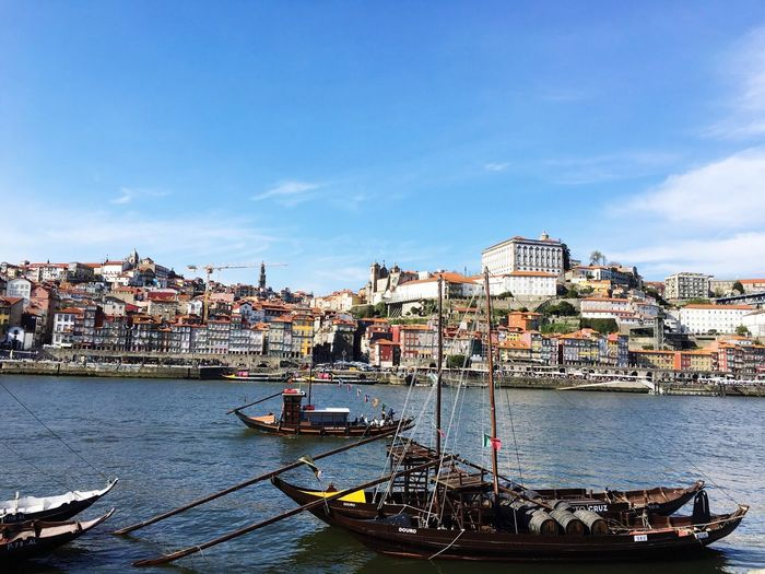 Building Exterior Transportation Built Structure Nautical Vessel Mode Of Transport Sky Water Boat City River Day Outdoors Oporto, Portugal Oporto Porto Oporto,Portugal Oporto City
