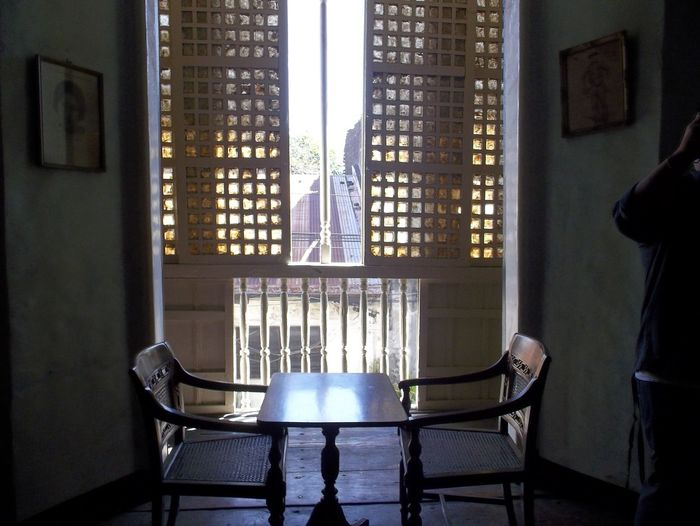 Architecture Backgound Chair Chair Day Goodimage Goodmorning Goodview Goodview2 Home Interior Ilocos Indoors  Light And Shadow Lighy Shines Through Mirrored No People Philippines Photography Real People Spirituality Table Tables Window Windows Ilocos North
