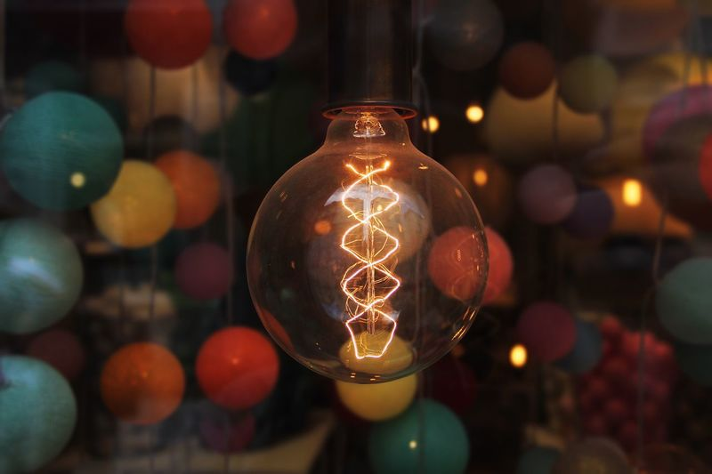 Lightbulb Colours Bokeh