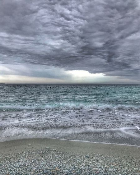 Nature Sea Horizon Over Water Nature Scenics Beauty In Nature Beach Water Tranquil Scene Cloud - Sky Sky No People Wave Outdoors Tranquility Day Sand Storm Cloud