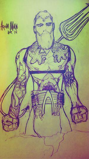 Art MyDrawing Aquaman JLA