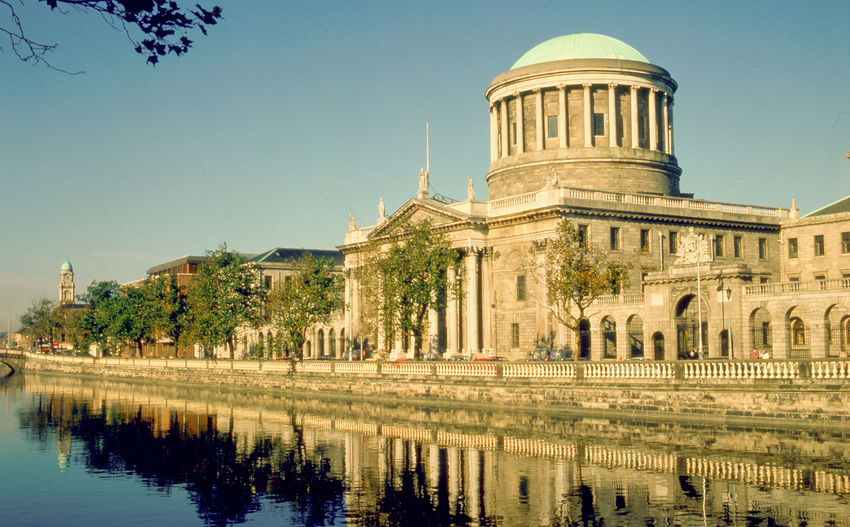 The Four Courts on the river Liffey Dublin