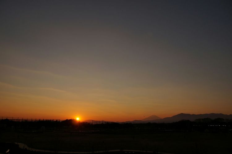 Sunset Sony Alpha57 Sky Taking Photos Mt.Fuji