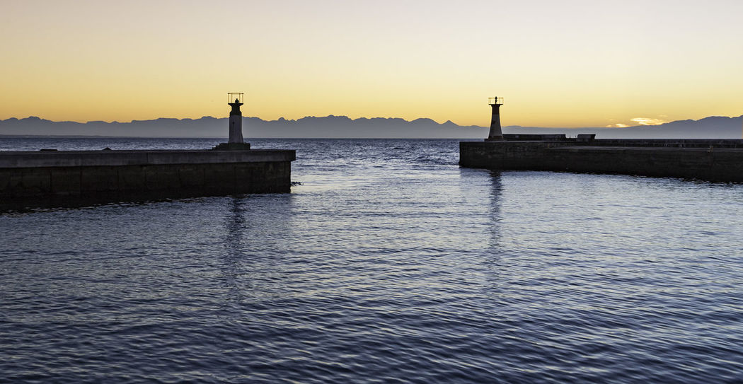 Beacons Cape Town, South Africa False Bay Fishing Harbour Fishing Village Harbour Kalk Bay Kalk Bay Harbour Outdoors Sunrise Tranquil Scene Tranquility Water